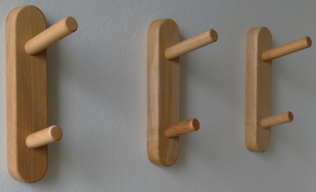 Wooden coat hooks, Wooden coat