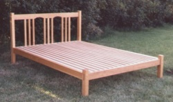 Double bed made from Cherry