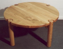 Circular coffee table made from Cherry