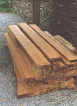 Stack of Oak planks