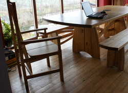 Moylegrove Ash Table, Chairs and Benches