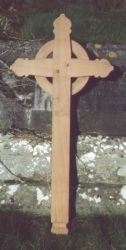 Oak Church Cross - fitted to the gable of a Lich Gate in Ceredigion