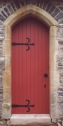 Church door made from Pitch Pine - Ceredigion