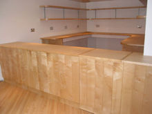 Shop counter made from Sycamore