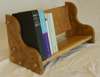 Book rack made from Pembrokeshire Beech